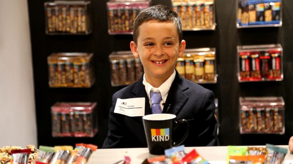 PHOTO: Alex Munoz, 9, was invited to meet the CEO and CFO of Kind Snacks at the company's New York City office after writing a letter to the company.
