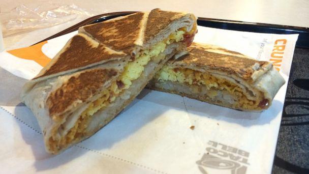 ABC amcrunchwrap mar 140319 16x9 608 Taco Bells Breakfast Menu Is Here! How It Really Tastes