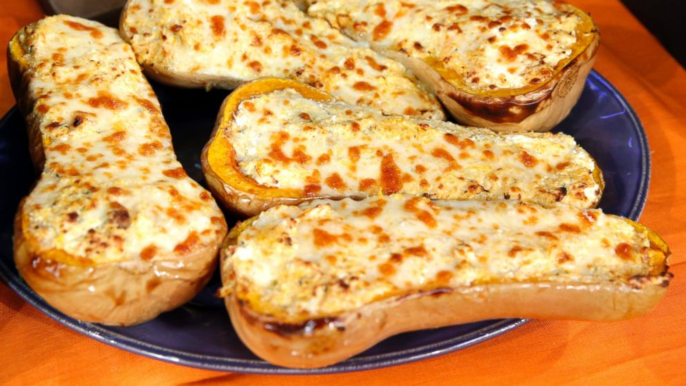 Four-Cheese Stuffed Butternut Squash Recipe by Rachael Ray