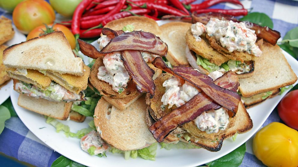 green tomato blt with fried green tomato blt with blackened # shrimp ...