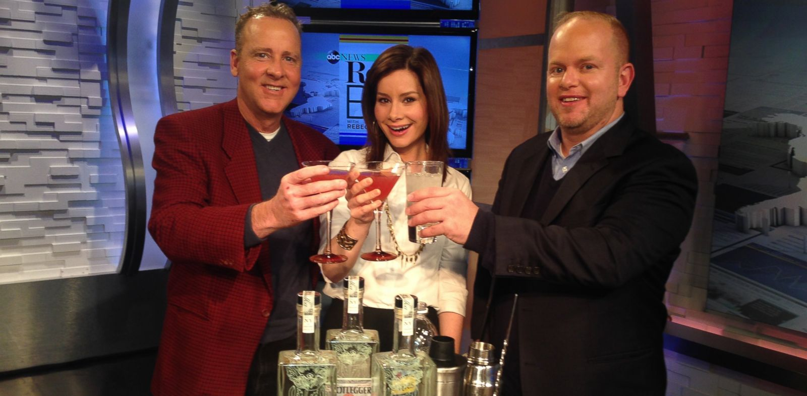 PHOTO: Holiday cocktails on Real Biz With Rebecca Jarvis.