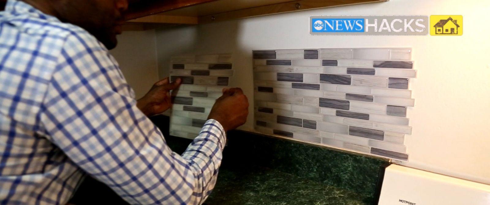 how to apply a kitchen backsplash abc news
