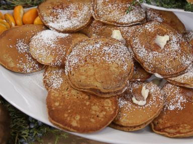 PHOTO: Emeril Lagasses recipe for gingerbread pancakes.