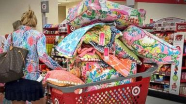 PHOTO: A woman shops for Lilly Pulitzer items at Target.
