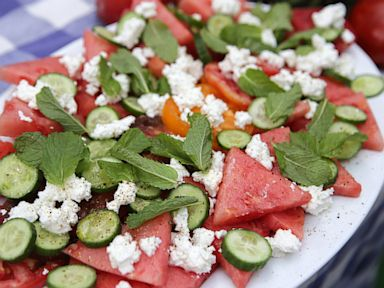 salad with feta and mint this watermelon and tomato salad will impress ...