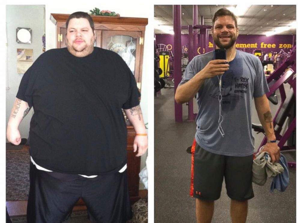 PHOTO: Ronnie Brower is seen before and after losing 458 pounds. For four years Brower dieted and worked out three hours a day. His efforts earned him the admiration of a woman who was on her own weight loss journey.
