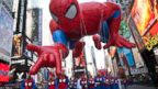 PHOTO: The Spiderman float is seen during the Macys Thanksgiving Day Parade in Times Square in New York, Nov. 24, 2011.