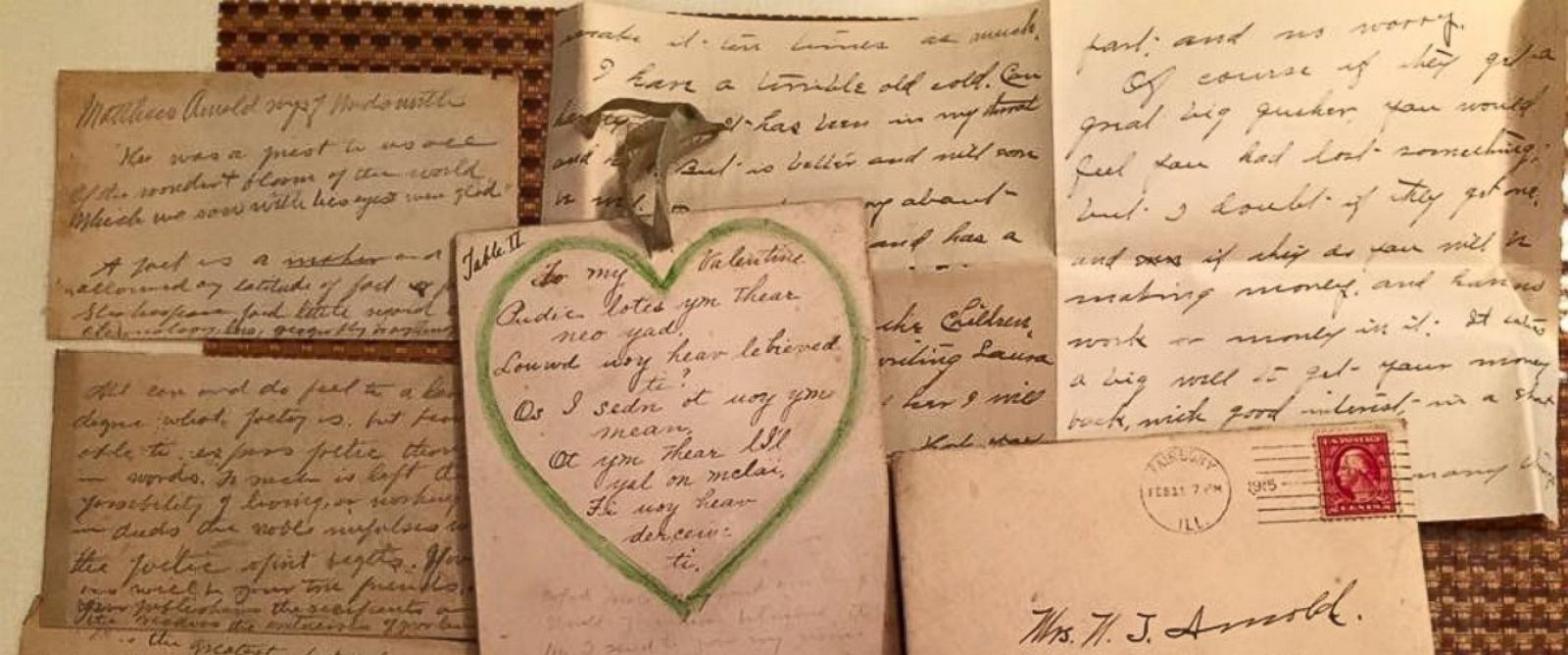 PHOTO: Woman Finds Handwritten Letters from 1915 in Ceiling, Returns Them to Relatives