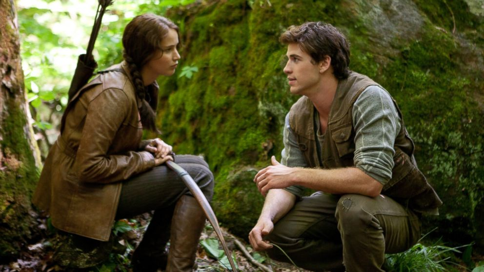 PHOTO: Katniss Everdeen (Jennifer Lawrence) and Gale Hawthorne (Liam Hemsworth) in The Hunger Games.