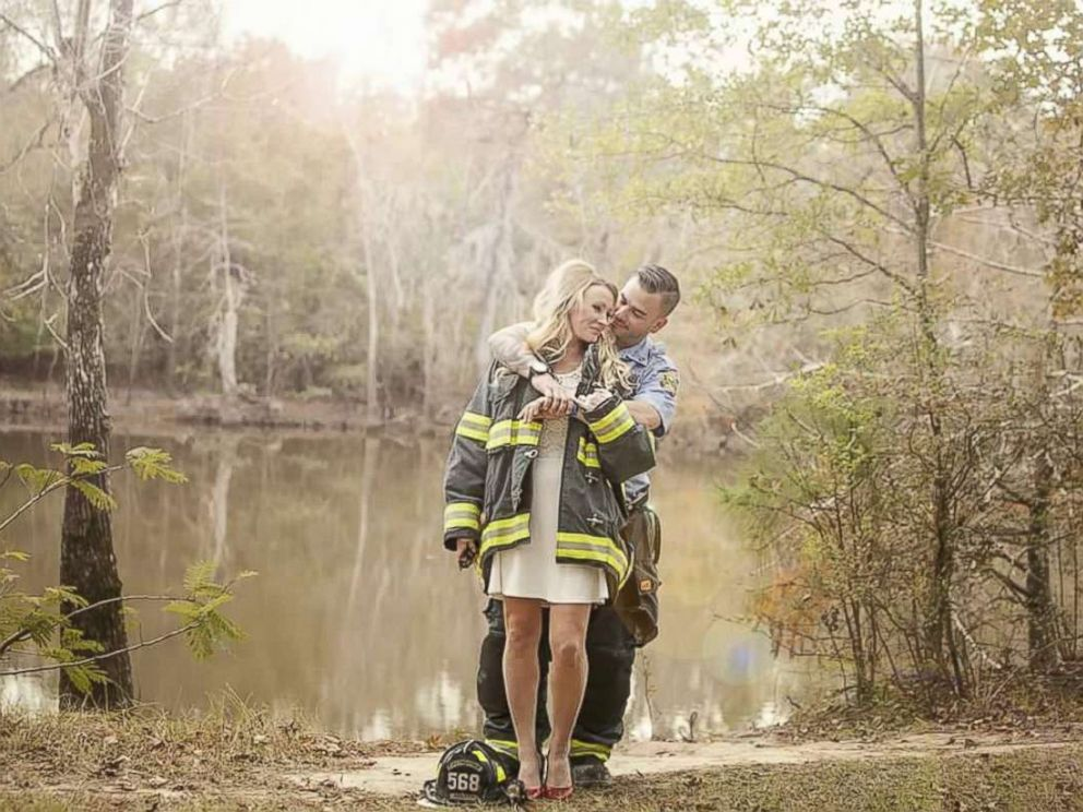 PHOTO: Kyle Parry, 35, a firefighter from Lumberton, Texas, and Stephanie Hoekstra, 33, were scheduled to marry on Sept. 10, but canceled their wedding amidst the devastation of Hurricane Harvey.