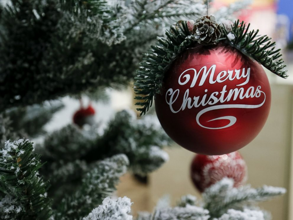 photoan ornament hangs from a christmas tree - Christmas Tree Prices