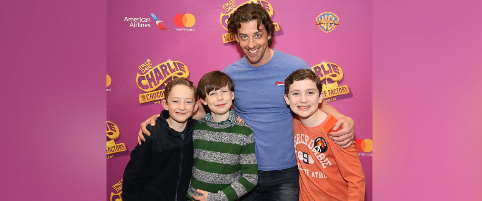 charlie and the chocolate factory preparing for broadway debut photo ryan foust jake ryan flynn christian borle and ryan sell attend the