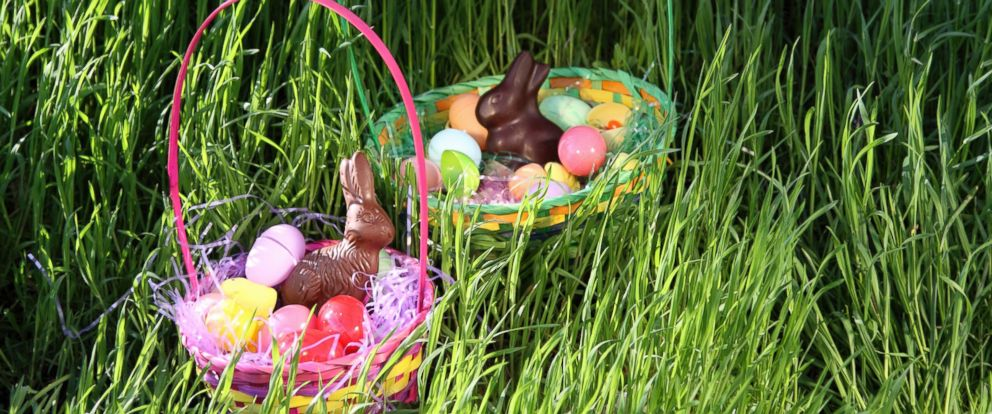 PHOTO: Chocolate bunnies in Easter baskets
