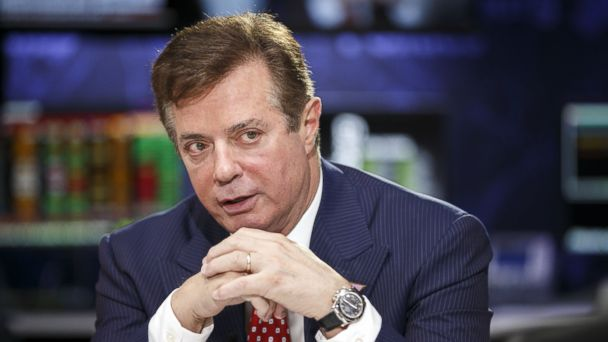 PHOTO: Paul Manafort speaks during a Bloomberg Politics interview on the sidelines of the Republican National Convention in Cleveland, July 18, 2016.