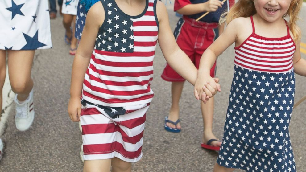 PHOTO: Children are dressed up for Fourth of July in this undated photo.