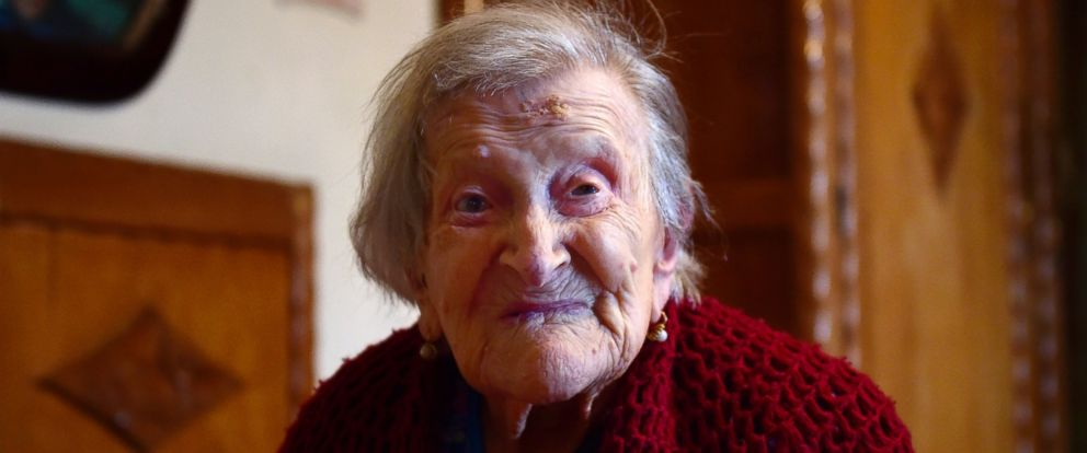 PHOTO: Emma Morano, 116, poses in Verbania, North Italy, May 14, 2016.