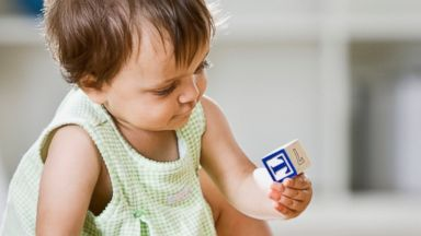 PHOTO: A baby plays with blocks in this undated stock photo.