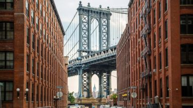 Dumbo section of Brooklyn, New York.