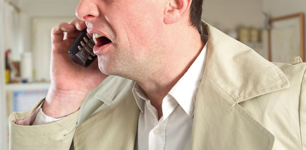 PHOTO: A man is pictured complaining in this stock photo.