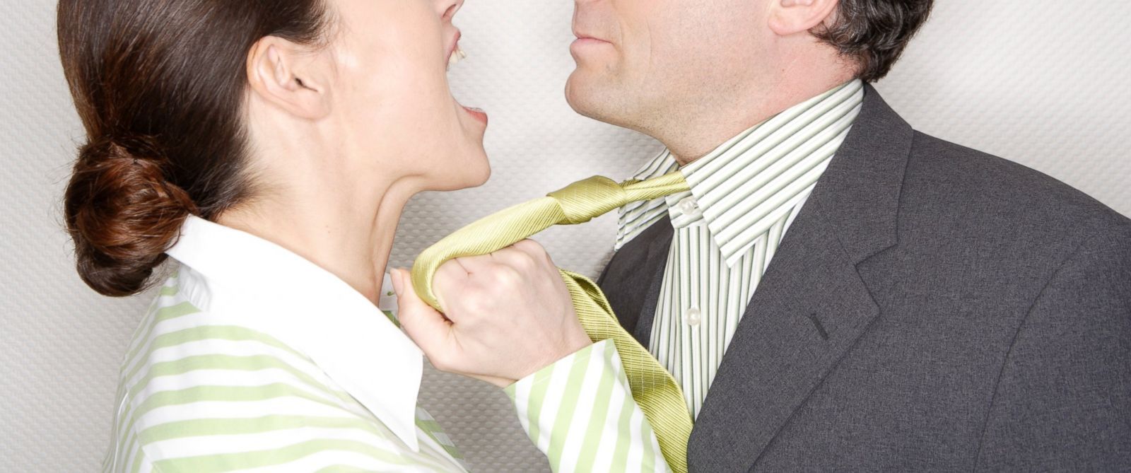 PHOTO: A man and woman are seen fighting in this undated stock photo.