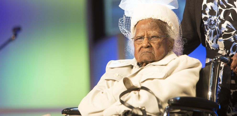 PHOTO: Worlds oldest person Jeralean Talley attends the 17th Annual Ford Freedom Awards at Max Fischer Music Center on May 5, 2015 in Detroit.