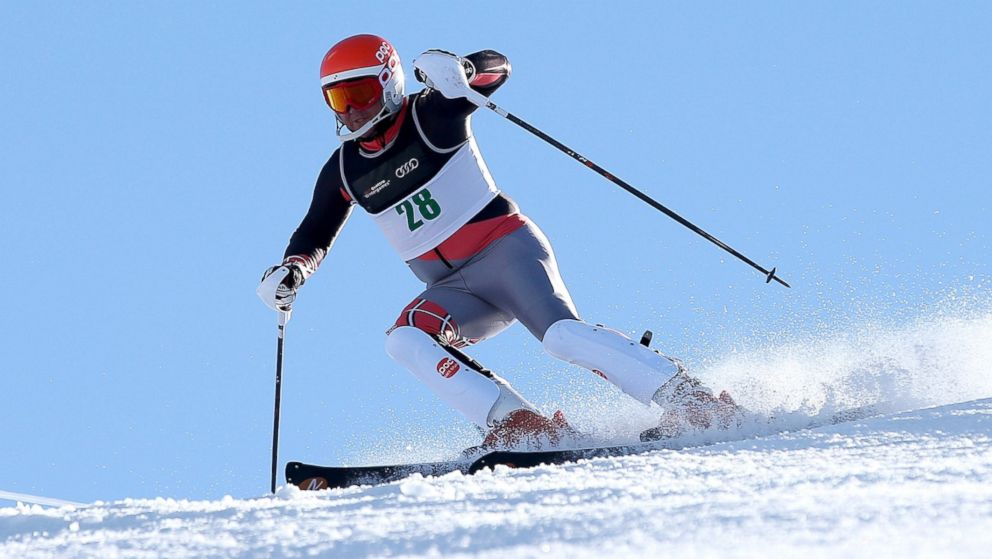 PHOTO: Jonathan Lujan of the USA competes in the Mens Slalom Standing LW3 race during the IPC Alpine Adaptive Slalom World Cup on day eight of the Winter Games NZ at Coronet Peak, Aug. 22, 2013, in Queenstown, New Zealand.