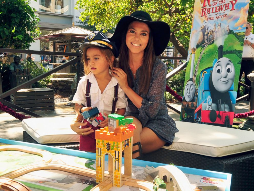 PHOTO: Kourtney Kardashian, right, is pictured with her son Mason, left, on Sept. 15, 2013 in Los Angeles.