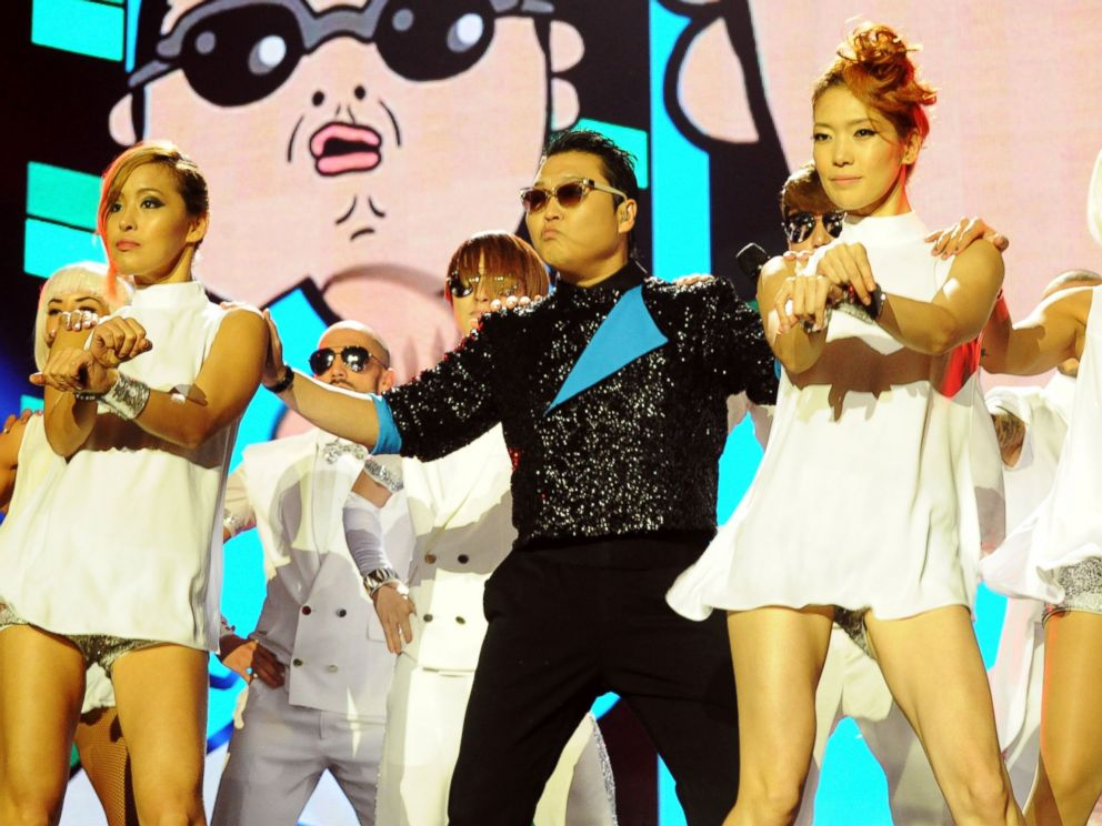 PHOTO: Singer Psy performs Gangnam Style at the MTV EMAs 2012 at Festhalle Frankfurt in this Nov. 11, 2012, file photo in Frankfurt am Main, Germany.