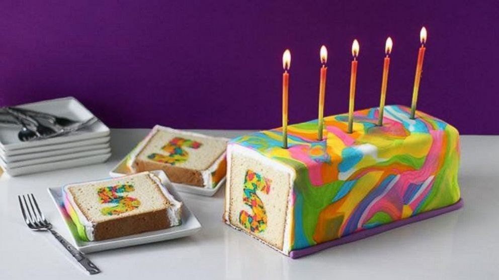 PHOTO: A rainbow tie-dye birthday cake caused commenters to go crazy.