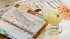 PHOTO: A planner and a drink are seen here in this undated file photo.