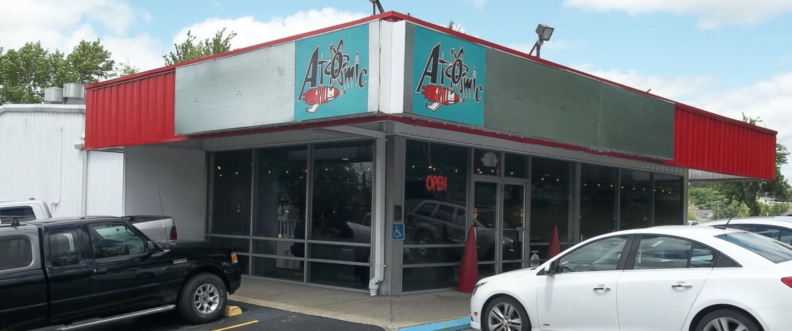 "PHOTO: Atomic Grill in Morganton, West Virginia responded to a review requester servers ""show some skin"" by offering a potato skin special."