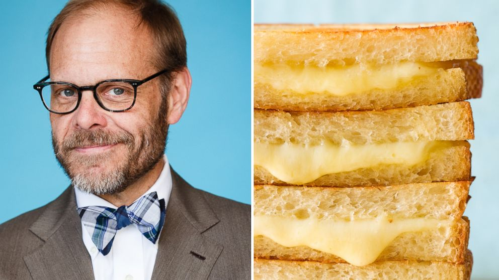 PHOTO: Alton Brown shares hi revolutionary grilled cheese trick.