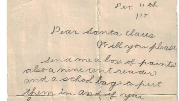 Christmas Wish List From 1915 Will Make You Feel