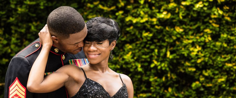 PHOTO: Nakita Brown threw a surprise wedding for her now husband, Rymario Armstrong, a Marine, in Beaufort, S.C.
