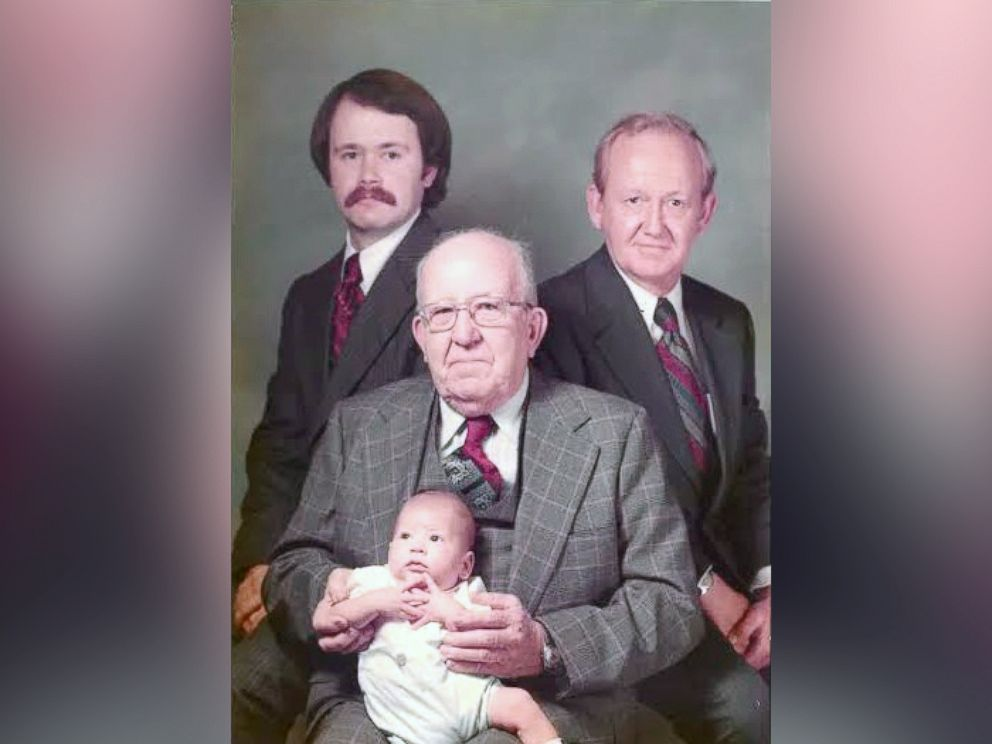 PHOTO: Four generations of men in the Settle family.