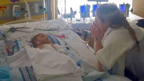 PHOTO: A baby boy who desperately needed a liver transplant found his perfect match in his godmother.