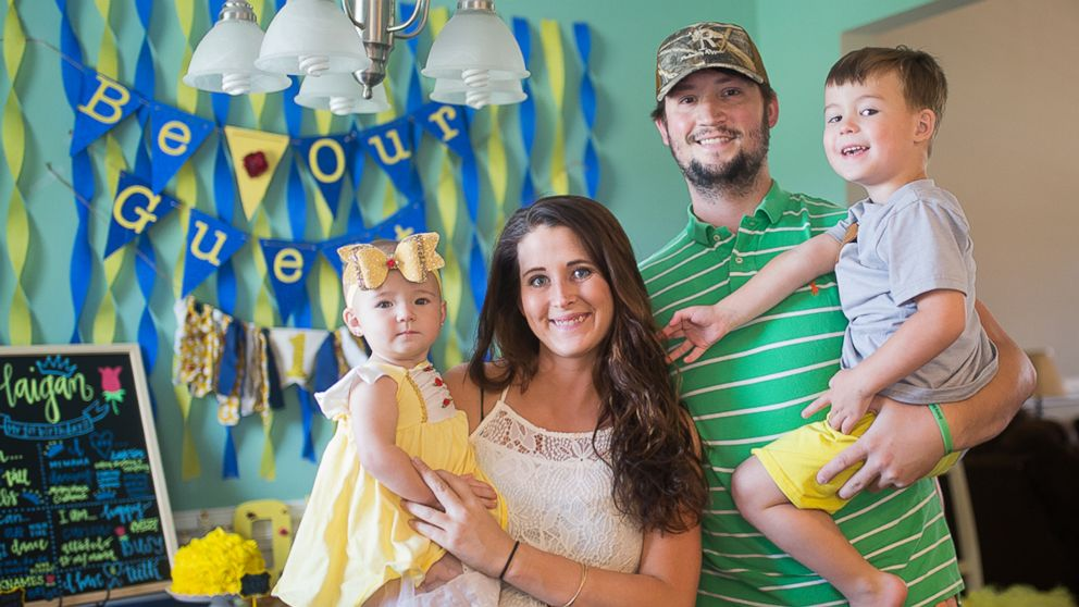 PHOTO: Brandi and Michel Rogers of Effingham, South Carolina, seen with their children, Lawson, 3 and Haigan, 1.