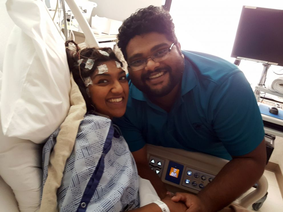 PHOTO:Anu Philip, 28, of Heartland, Texas, received a kidney transplant at Medical City Dallas Hospital on March 19 and walked down the aisle on March 25.