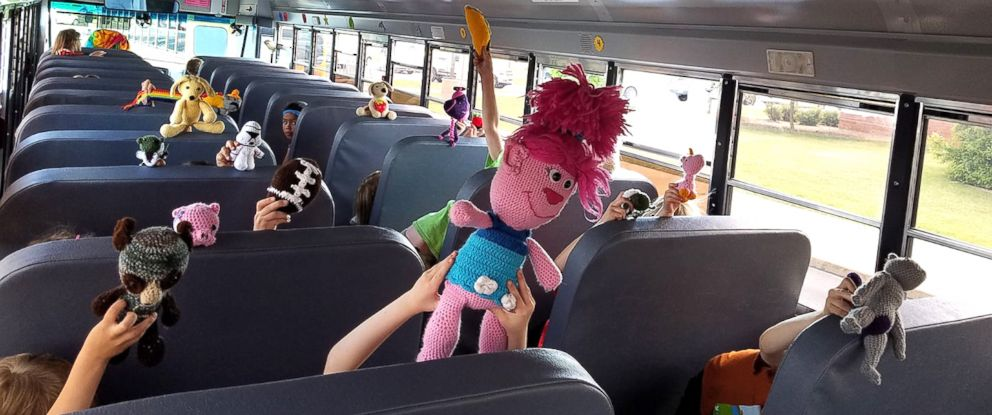 PHOTO: Bus driver Trudy Serres of Waukesha, Wisconsin, crochets toys for every elementary school student on her route that wants one.