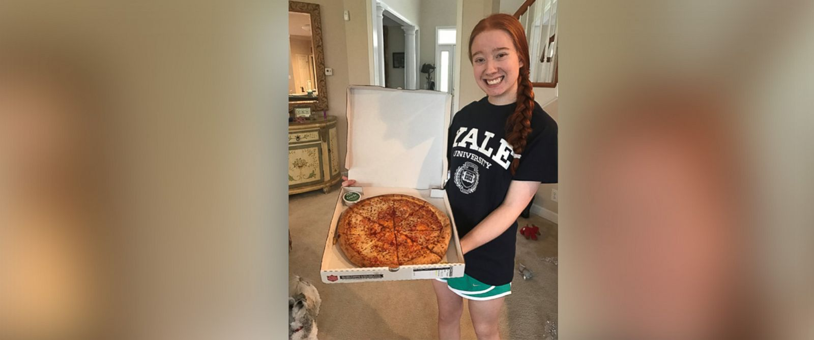 PHOTO: Carolina Williams, of Brentwood, Tennessee, was accepted to Yale University after writing an essay about her love for Papa Johns pizza.