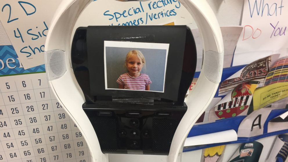 Good Morning America Robot : Robot allows year old to attend kindergarten while she
