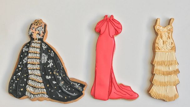 PHOTO: Cookie artist Patti Paige turned Emma Stone's, Viola Davis' and Janelle Monae's Oscar looks into immaculate cookies.