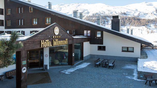 PHOTO: These high-altitude hotels each sit perched in the mountains more than a mile above sea level. This is the Hotel Intermonti.