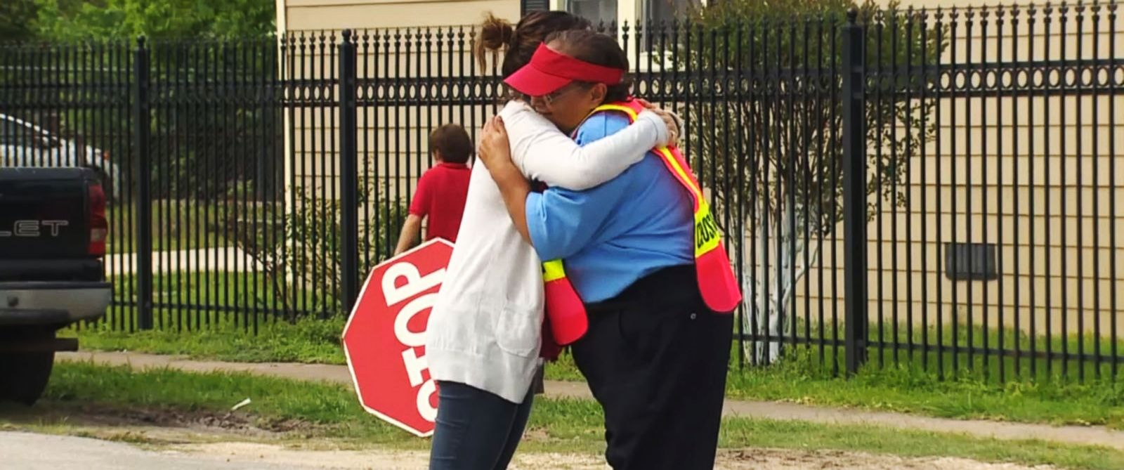 PHOTO: Staff and students at the Rusk School in Houston, Texas, have raised more than half of their $10,000 goal on behalf of their crossing guard, Sanjuana Torres, 59.