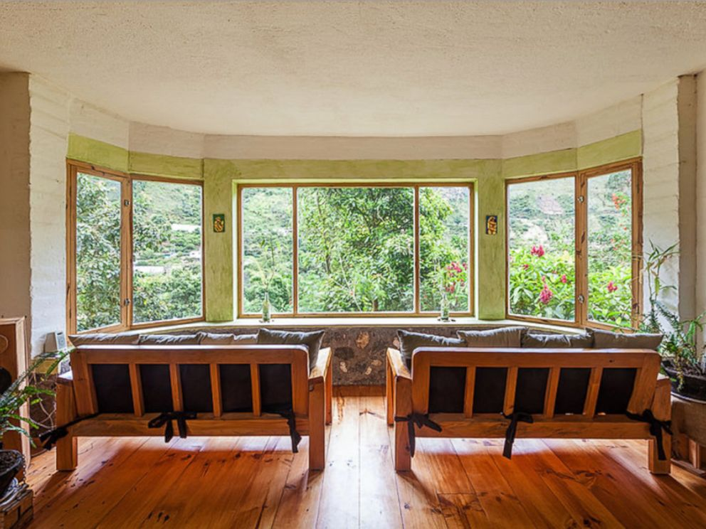 PHOTO: La Casa Verde has huge windows perfect for bird watching, including the hummingbirds that frequent the property.
