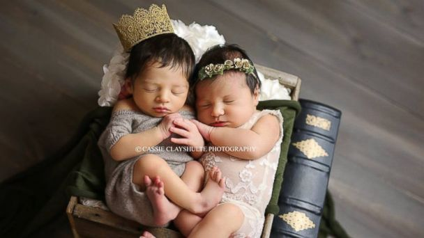 PHOTO: Babies named Romeo and Juliet have Shakespeare-themed photo shoot after coincidentally being born at same hospital within 18 hours.