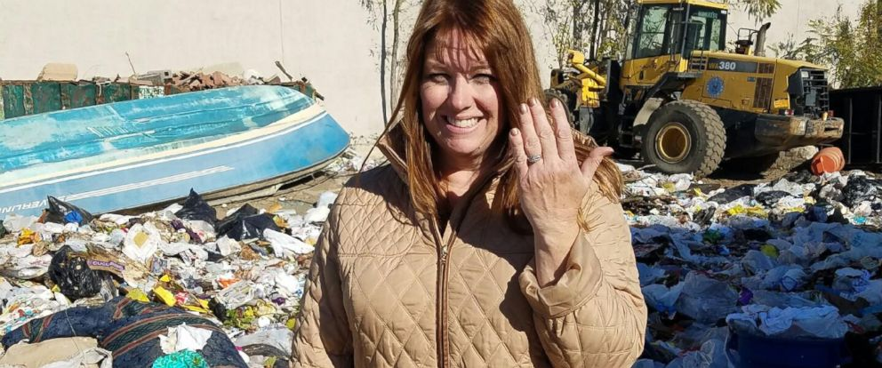 PHOTO: A sanitation crew for the Town of Babylon in Long Island, New York, helped Colleen Dyckman dig through an estimated six tons of trash for nearly four hours on Nov. 14, 2016, to find her wedding rings she had accidentally tossed in the trash.