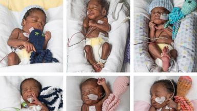 Sextuplets born in Virginia after parents' 17-year infertility struggle