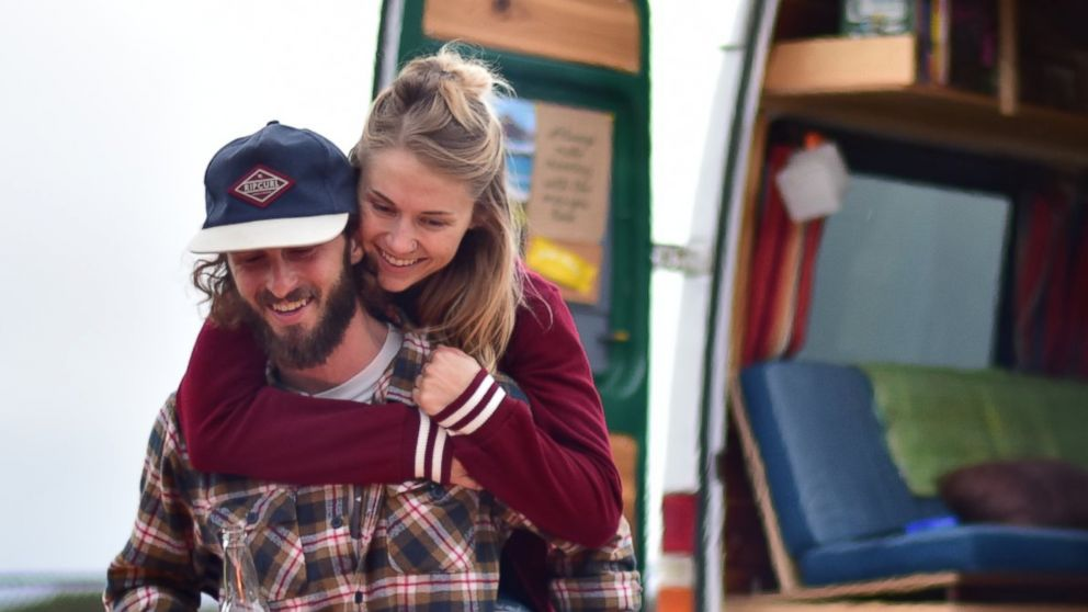 PHOTO: Pete Thuli and Taylor Bucher spent five months transforming a van they bought on Craigslist into a home they could take on the road.