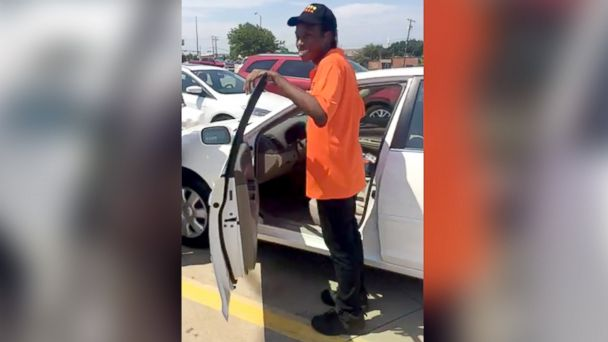 PHOTO: A group of strangers in Texas helped raise money to buy a car for a 20-year-man who walked more than 3 miles to work daily.